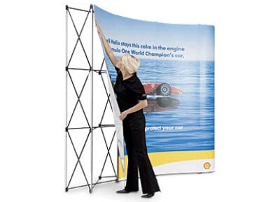 pop up media wall trade show displays