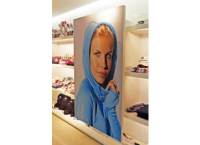 Wall Mounted Fabric Frame